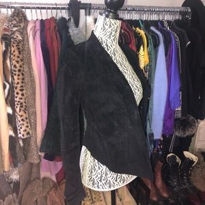 Le chateau genuine suede cardigan jacket, xxs